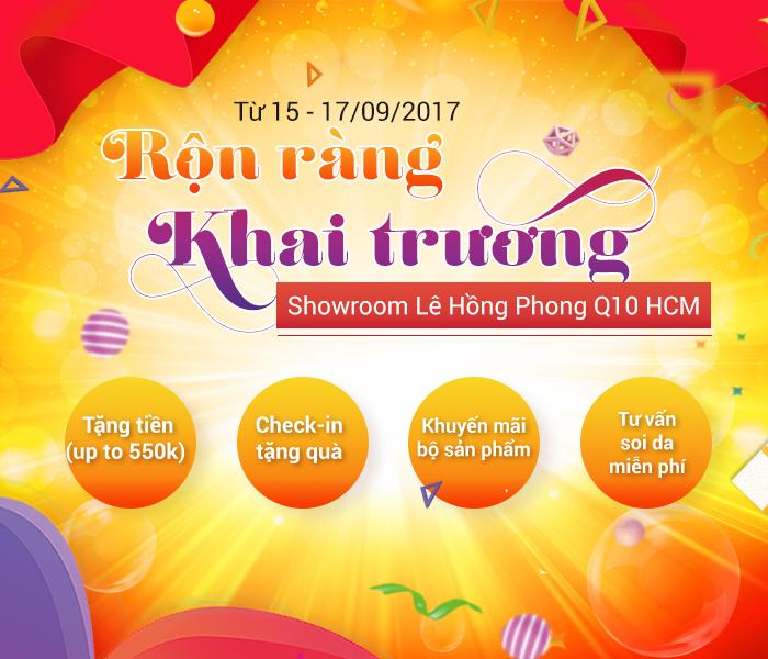 550 phần quà hấp dẫn, giá trị đang chờ bạn trong dịp Mai Hân mỹ phẩm khai trương showroom Lê Hồng Phong, TP HCM