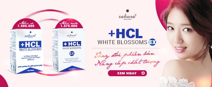 Viên uống HCL đã được nâng cấp thành Sakura White Blossoms HCL Ex