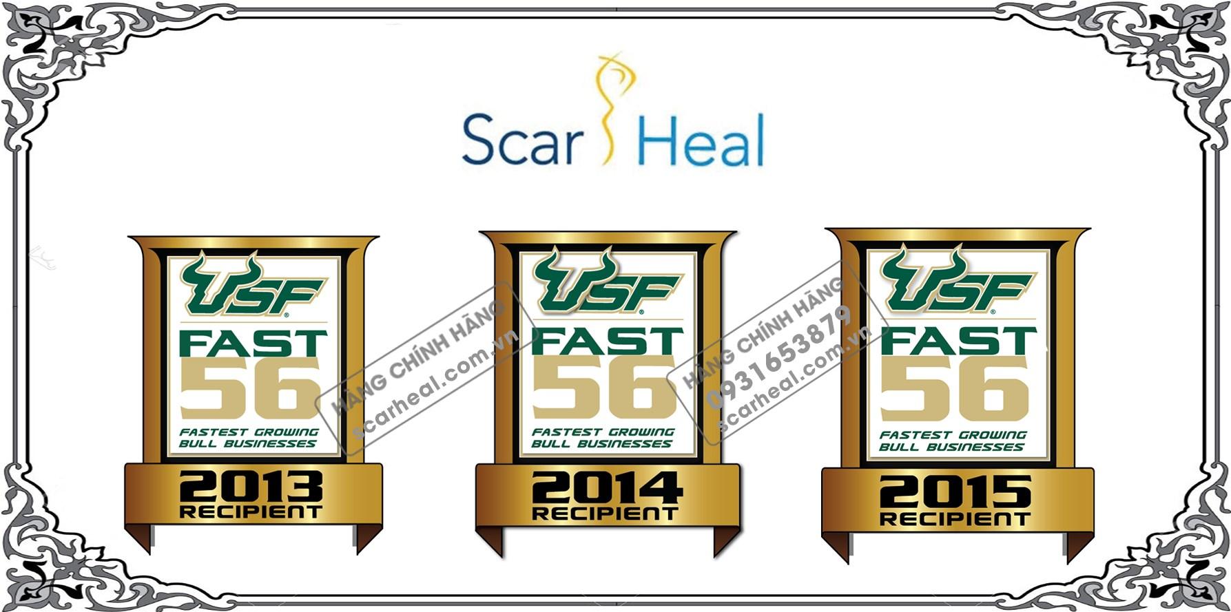 Scar Heal là một trong rất ít các tập đoàn trên thế giới nhận giải thưởng USF's Bull 56  lần thứ 3 liên tiếp